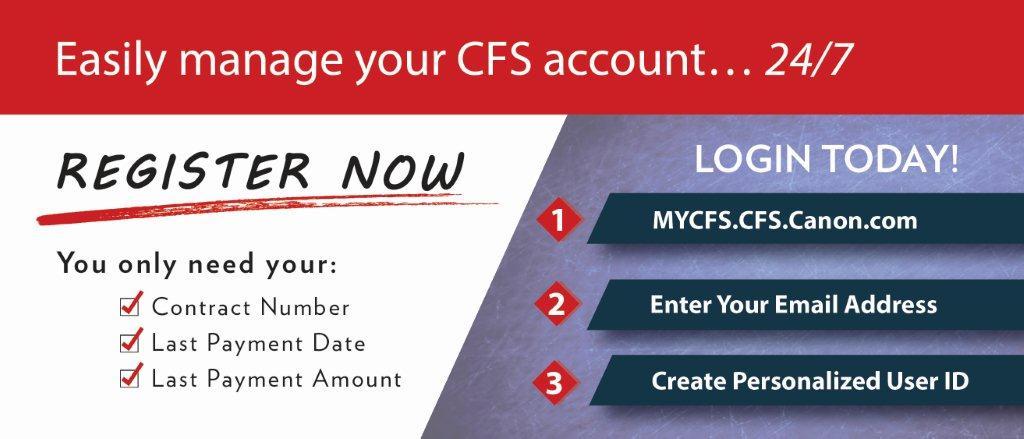 Canon Financial Services : Customer Portal